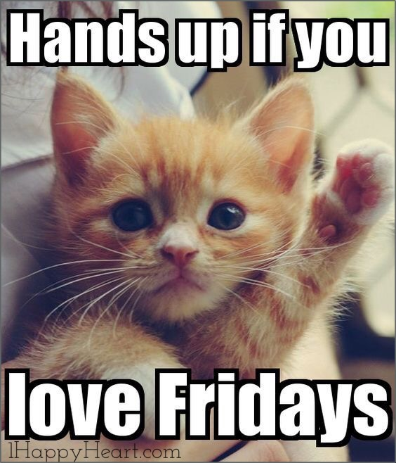 TGIF Hands up if you love Fridays