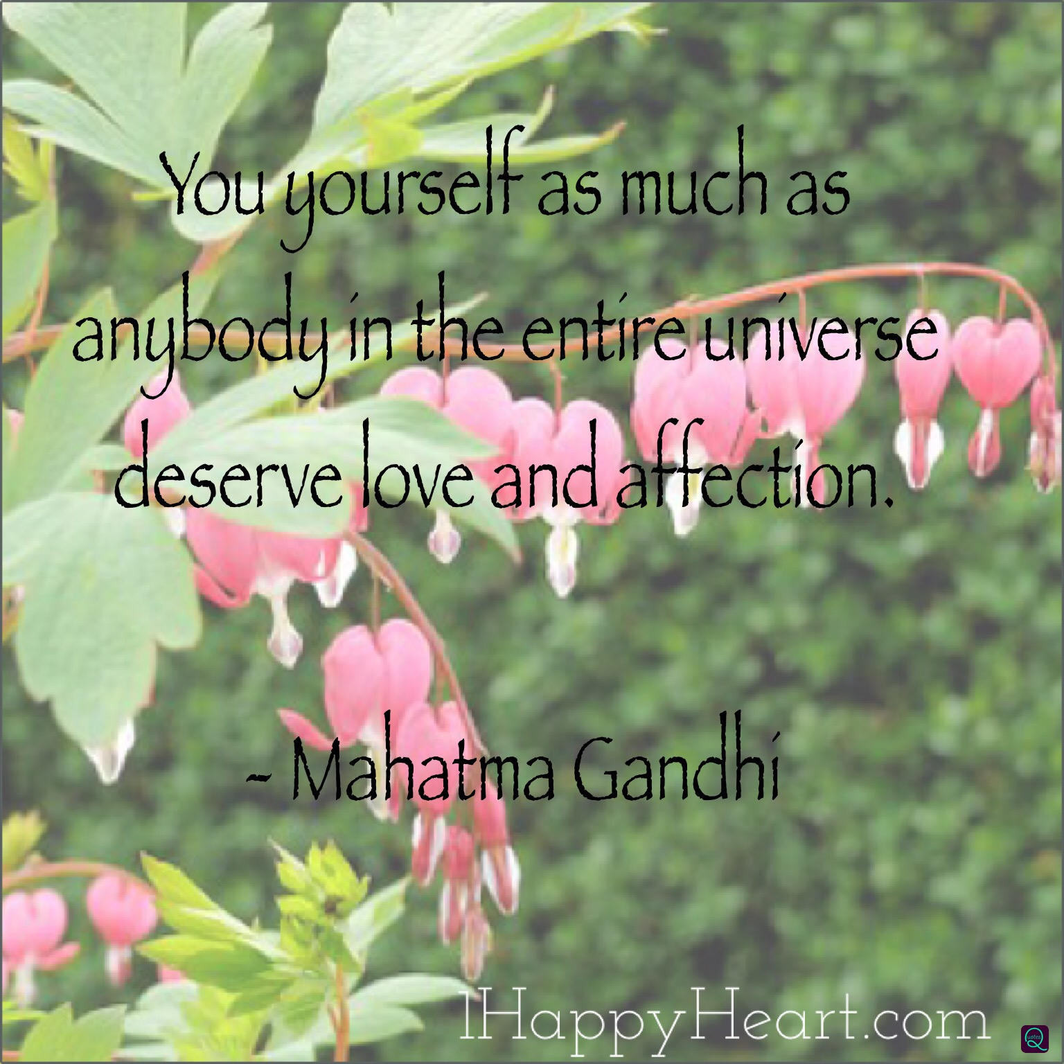 You yourself deserve love