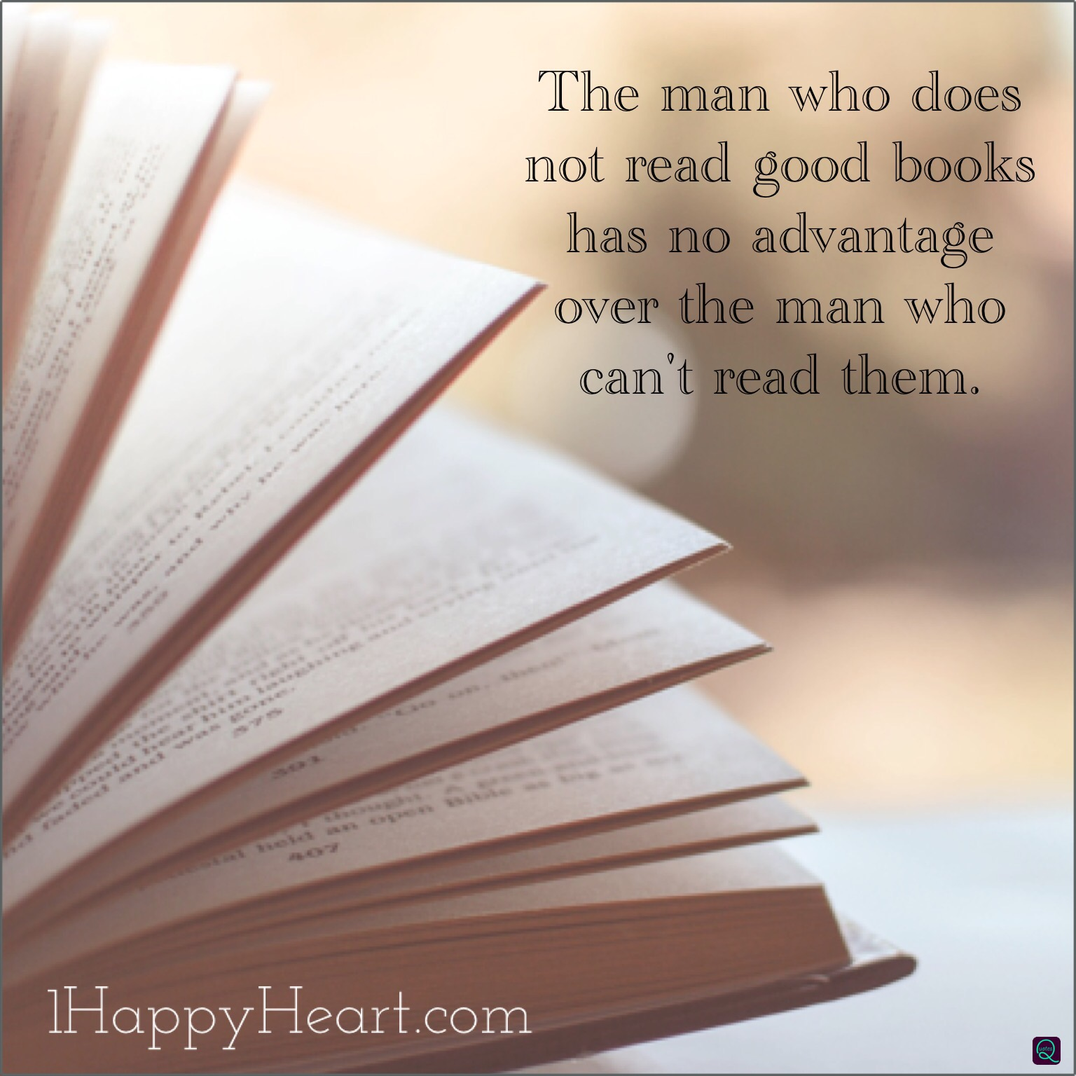 The man who does not read books