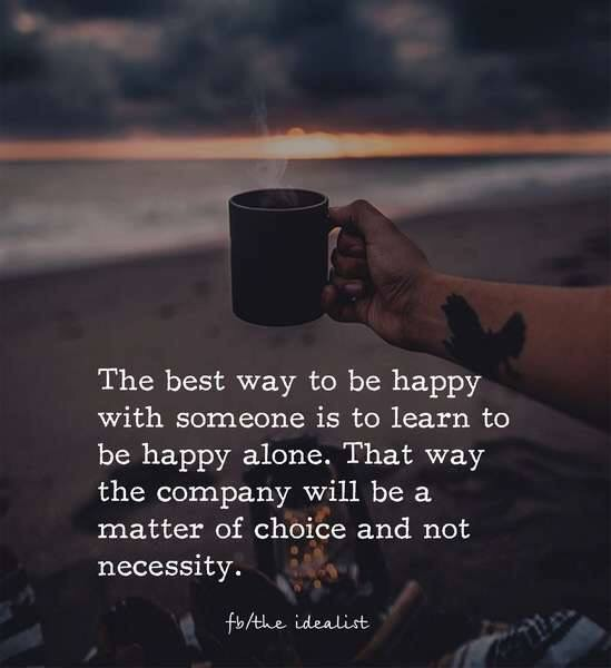Happy Lonely Quotes: Learn To Be Happy Alone